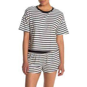 Socialite Printed Boxy Crew Neck Pajama Set NWT